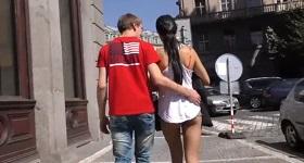 Český sexy pár na ulici